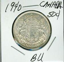 1940 CANADA SILVER 50 CENT AU - BU