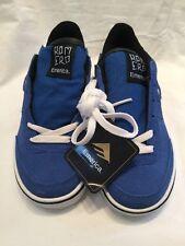 Chaussures de Skate enfants de EMERICA Romero jeunesse Kid Blue Suede UK taille 1 BNWOB