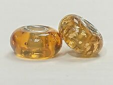 Heisey Amber Bead Made With Broken Heisey Glass