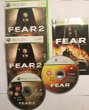 2 XBOX 360 GAMES FEAR 1 I FIRST ENCOUNTER ASSAULT + 2 II PROJECT ORIGIN PAL
