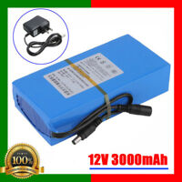 Portable DC 12V 3000mAh Rechargeable Li-ion Battery for CCTV Camera US Plug