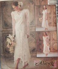 6948 McCall's Romantic Alicyn Bride Bridal Wedding Dress Size 10 Victorian