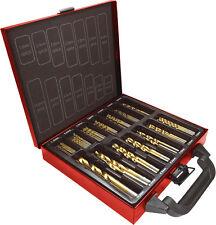 Lumberjack DBS99 Quality 99 Piece Titanium Coated HSS Drill Bit Set Metal Case