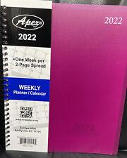 2022 Weeklymonthly Planner Calendar Agenda Organizer 8x10 Random Color