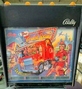 BALLY PINBALL MACHINE TRUCK STOP New Cab Decals FREE SHIPPING