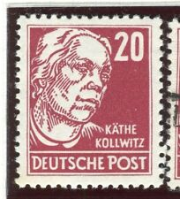 GERMANY;  EAST 1952-53 Politicians Portrait issue Mint hinged 20pf. value