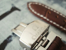 NEW WATCH STRAP Leather 20mm OMEGA Brown SEAMASTER SPEEDMASTER + GIFT