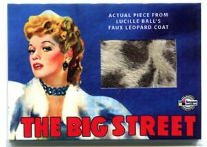 2009 Classic Vintage Movie Posters Stars Prop Lucille Ball Faux Leopard Coat