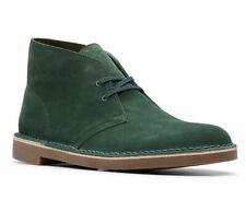 Clarks Men's Bushacre 2 Dark Green Suede Classic Desert Style Boots 26144481