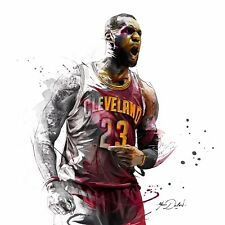 Cleveland Cavaliers LeBron James poster wall decoration photo print 24x24 inches