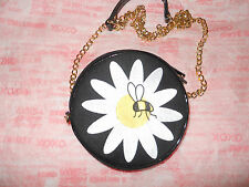 Lulu Guinness Canvas Reversible Loves Me Not Daisy Bee Crossbody Hand Bag *new*