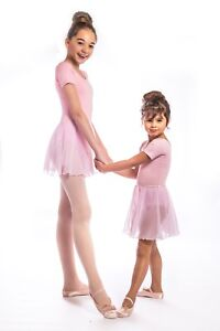 Girls proVora Pink Ballet Skirt Chiffon wrap. RAD Ballet. Pull on stretch waist