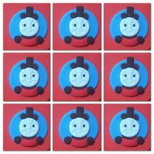 12  Edible round THOMAS THE TANK train & friends CUPCAKE cake toppers decoration