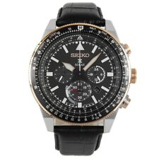 Seiko SSC611 P1 Black Sky Prospex Solar Chronograph Men's Analog Pilot Watch