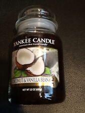 yankee candle coconut & vanilla bean usa retired jar
