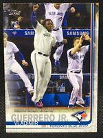 2019 Topps Update VLADIMIR GUERRERO JR RC Toronto Blue Jays Rookie Debut #62