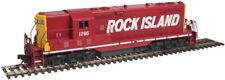 Atlas Ho Scale 10002044 Rock Island Gp7 Locomotive # 1277 W/ Dcc LokSound