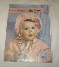 Antique 1950 Bear Brand Bébé Livre Crochet & Tricotage Enfant Pour 4 Ans De Age