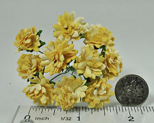Mulberry Paper Flower Tiny Aster Shades of Yellow handmade daisy for card making
