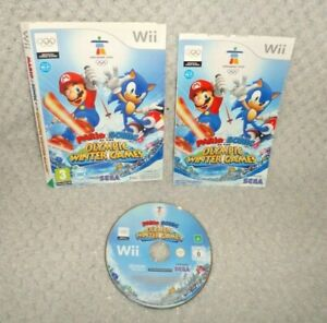 Mario & Sonic At The Olympic Winter Games Wii Game DISC, SLEEVE & MANUAL ONLY
