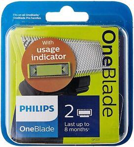 Philips QP220/50 OneBlade Lama 2 lame di Ricambio originale One blade