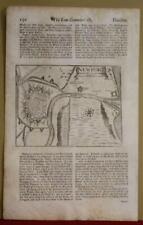 OSTEND & NIEUWPOORT BELGIUM 1690 SWALE & CHILD UNUSUAL ANTIQUE CITY MAPS