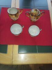 VTG Hand Painted Japanese Moriage Satsuma DRAGONWARE MORITAMA TEA SET MORIAGE