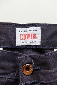 Edwin 55 Chino trousers | W32 L32 | Navy Straight 100% cotton VGC