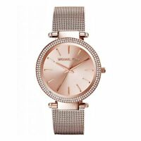 NEW Michael Kors MK3369 Rose Gold Tone Darci Stainless Steel Ladies Wrist Watch