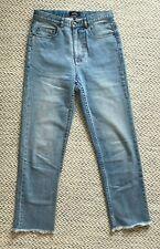 A.P.C. jeans Standard A Franges high-waist light blue Japanese stretch denim W27