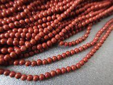 """Red Jasper Round Beads 2 mm 16"""""""