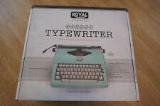Royal 79101T Classic Manual Typewriter MINT Green