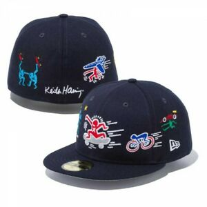 NEW ERA 59FIFTY Fitted Cap Keith Haring 7 Artworks Logo Fast Shipping From Japan