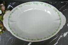 "Royal Schwarzburg Serving Platter White China Green Flowers/Germany 19-3/4"""