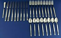 United Silver Co Stainless Steel Flatware Lot of 26 Pieces Pattern USI12 Japan