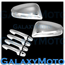 14-15 Toyota RAV4 RAV 4 W/O Turn Signal Triple Chrome Mirror+4 Door Handle Cover