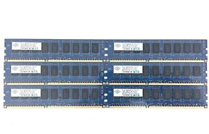 NANYA 6GB 6x1GB 1Rx8 PC3-8500E DDR3 1066MHz ECC RAM KIT NT1GC72B89A0NF-BE