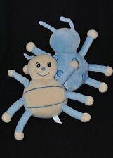Lot 2 peluche doudou coccinelle ARTHUR et LOLA Bébisol beige bleu grelot 18 cm