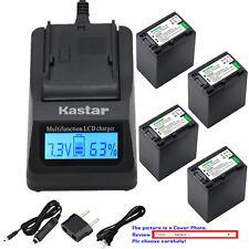 Kastar Battery LCD Fast Charger for Sony FH100 DCR-DVD705 DCR-DVD708 DCR-DVD710