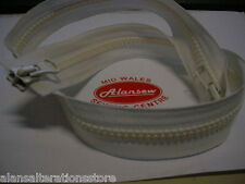 """26"""" YKK CHUNKY TWIN SLIDER OPEN END FULLY SEPERABLE ZIP in IVORY"""