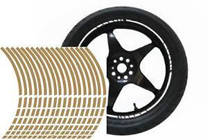 NEW wheel rim tape striping stripes stickers GOLD..(36 pieces/8 per wheel)