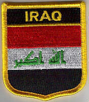 Iraq Country Flag Embroidered Patch T7