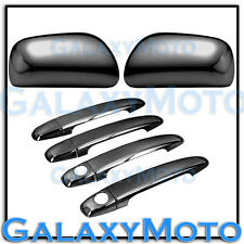 09-13 Toyota Corolla Black Chrome Mirror+4 Door Handle with PSG Keyhole Cover
