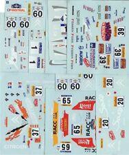 LOT DECALS 1/43 CITROËN SAXO S1600 - COLORADO  DCV018