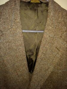 John Weitz House of Blue NY Vtg Tweed Blazer 40 Sport Coat Wool Brown USA NWT