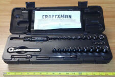 "USA Made - CRAFTSMAN  1/4"" drive Standard SAE Inch RATCHET & SOCKET SET 26-Piece"