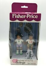 Fisher Price Loving Family AFRICAN AMERICAN SIBLINGS Brother Sister NIB Rare!