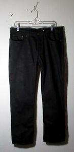 Men's BANANA REPUBLIC Black Button Fly Denim Jeans Size 35X30