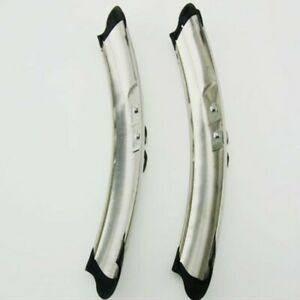 1Pair Bike Mudguard 310mmX48mm Cycling Fender Rear Road Bicycle Silver