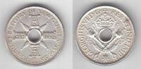 BRITISH NEW GUINEA – SILVER 1 SHILLING AU COIN 1938 YEAR KM#8 GEORGE VI